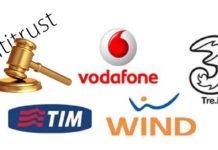 Wind Tre, Telecom e Vodafone sanzionate dall'Antitrust per condotte aggressive.